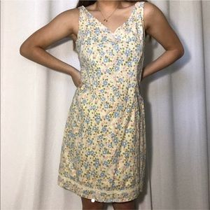 old navy vintage yellow floral dress